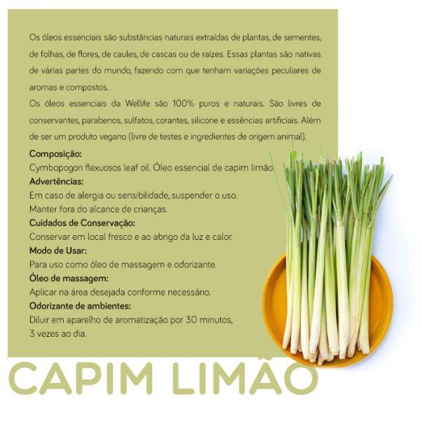 Wellife Oleo Essencial Capim Limão