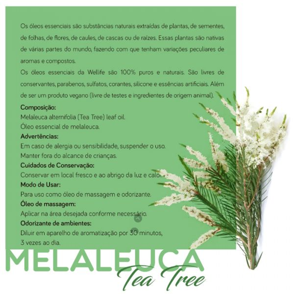 Wellife Oleo Essencial Melaleuca