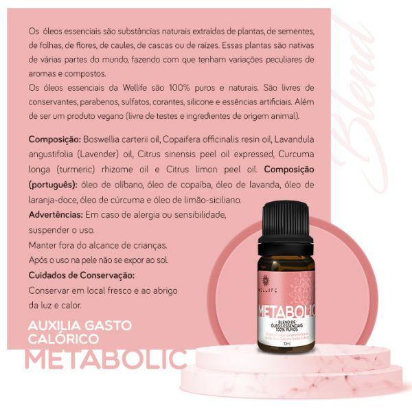 Wellife Oleo Essencial Blend Metabolic