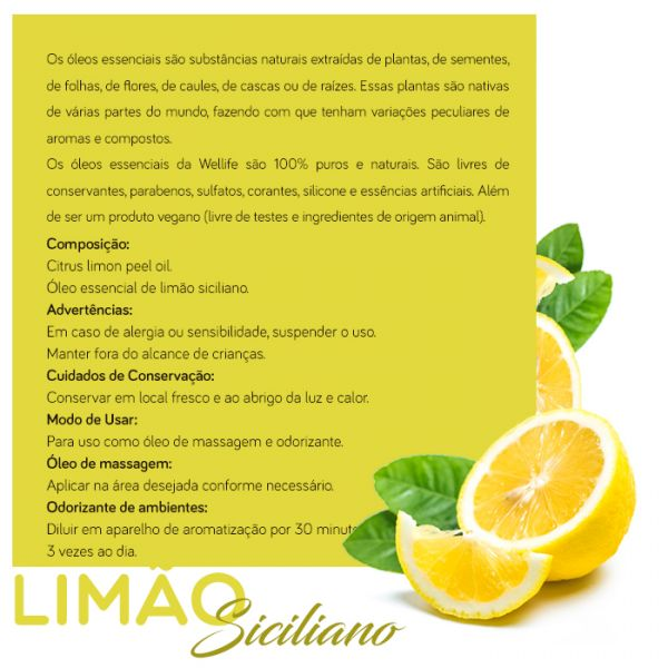 Wellife Oleo Essencial Limao Siciliano