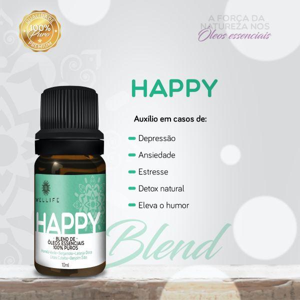Wellife Oleo Essencial Blend Happy