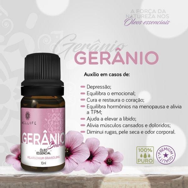 Wellife Oleo Essencial Geranio
